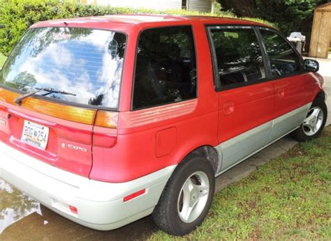 old car owners manuals 1994 mitsubishi expo on board diagnostic system classic 1994 mitsubishi expo base 4 door minivan 5 speed stick shift rare red silver for sale