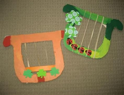 celtic crafts for cardboard harp for a st s day