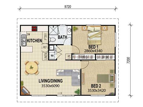 Two Bedroom Granny Flat Floor Plans small bathroom blueprints nice garage apartment plans