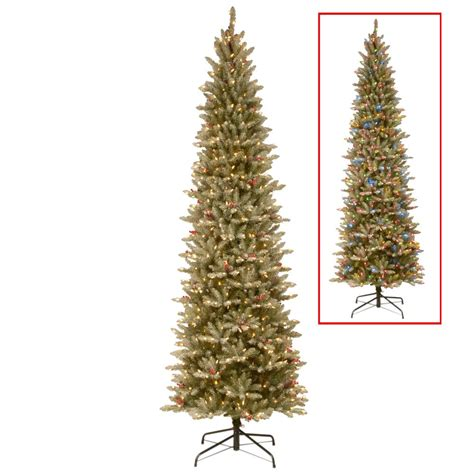 9 ft slim tree home depot national tree company 6 5 ft powerconnect frosted