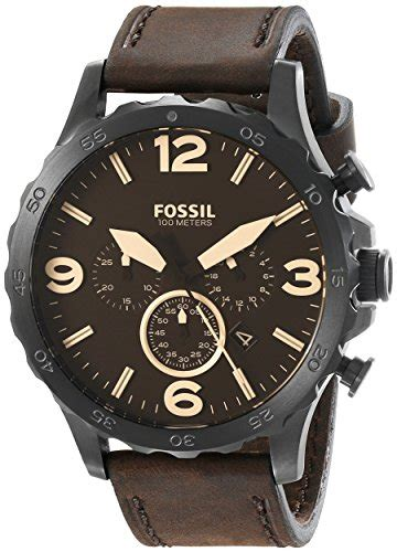 fossil watches with leather bands fossil s jr1487 nate stainless steel with brown leather band in the uae see prices