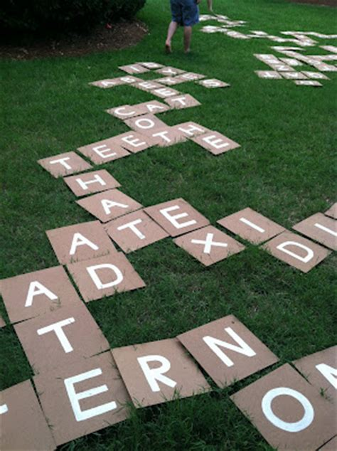 scrabble bananagrams diy yard scrabble all gifts considered