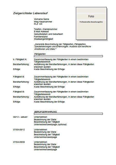 german cv template lebenslauf joblers