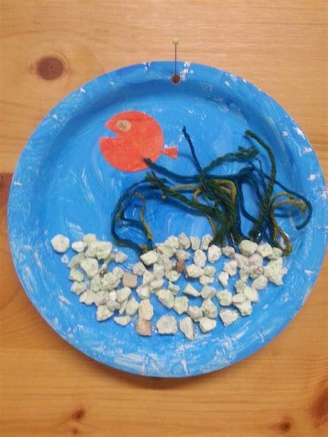 paper plate aquarium craft paperplate aquarium craft wather crafts