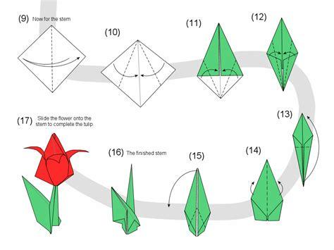 simple origami tulip martin s origami tulip