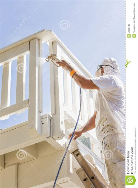 spray painter house painter spray painting royalty free stock photo