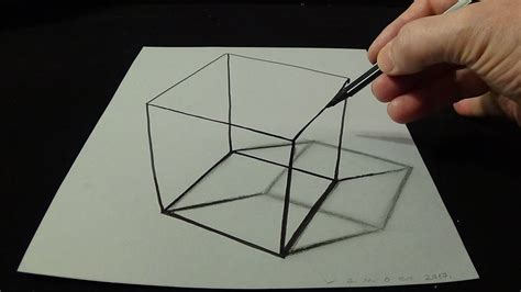 3d drafting 3d drawing a simple cube no time lapse how to draw 3d