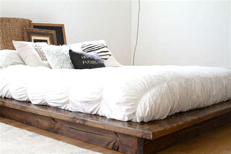 floating bed frame design modern floating platform bed frame