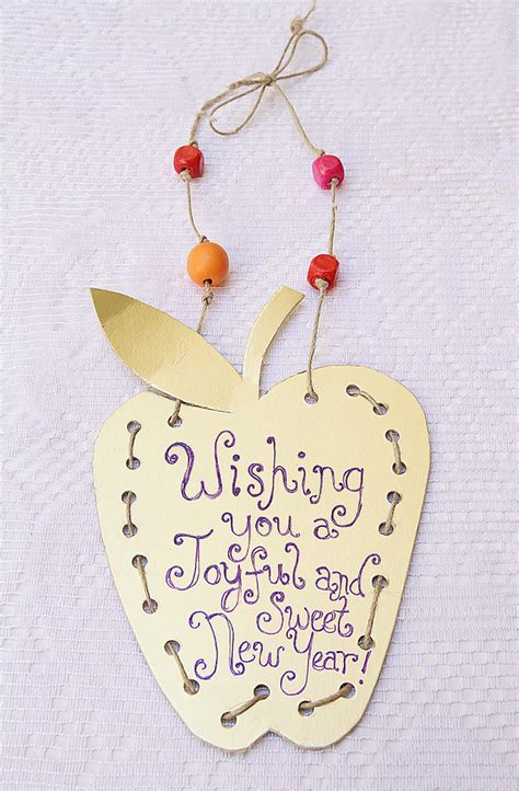 Golden Apple Placard For The New Year Creative