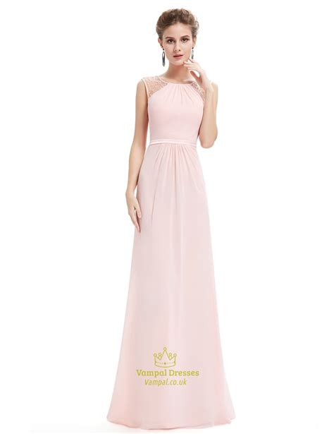 beaded bodice prom dress pearl pink floor length chiffon prom dresses with beaded