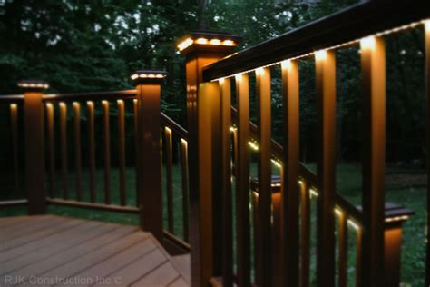 rope lights for decks deck with rail lighting traditional porch dc metro