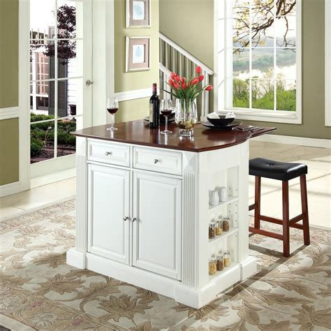 small kitchen islands with stools shop crosley furniture white craftsman kitchen island with