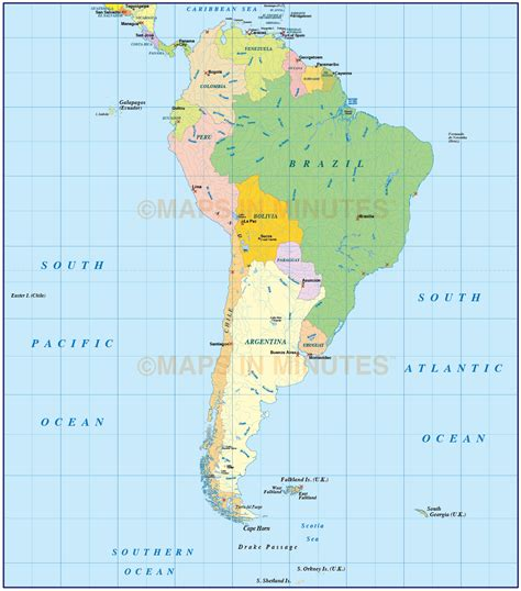 south american vector south america political map in ai illustrator and
