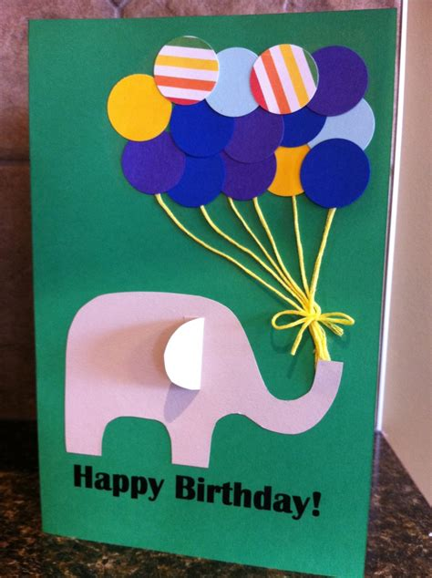 card craft for paper punch balloon birthday card my kid craft