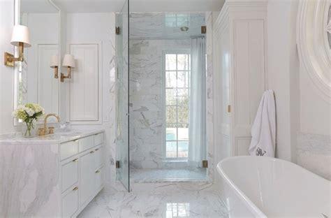 Ideas For Bathroom Window Treatments bathroom vanity with waterfall countertop transitional