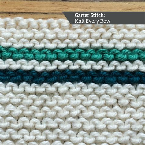 how to start knitting row how to knit garter stitch