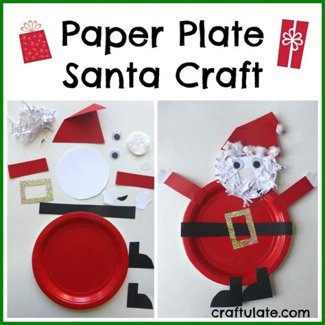 santa paper crafts 17 best images about paper plate and paper cups for