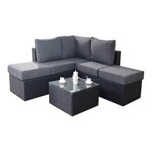 Small Black Corner Sofa by Port Royal Garden Furniture Prestige Black Small Corner