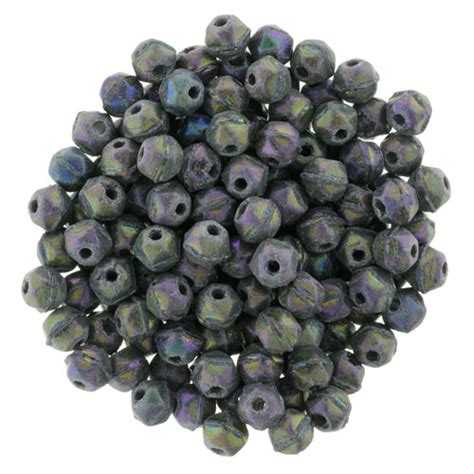 bead catalog cut 3mm matte iris purple starman