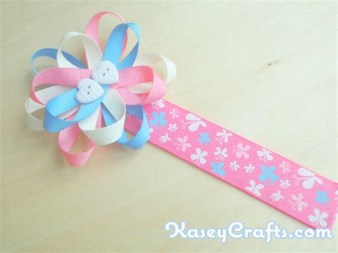 How To Make Flower Ribbon Bookmark For Using
