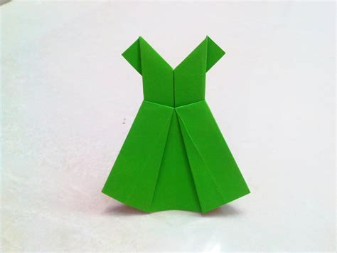 origami paper craft how to make an origami paper dress 1 origami paper