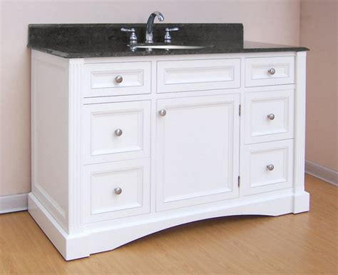 48 inch bathroom vanity with top and sink 48 inch single sink bathroom vanity with white finish and