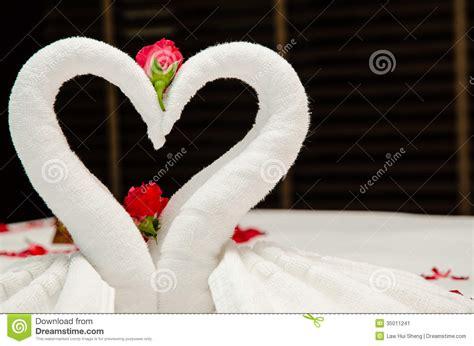 Swan Towel Origami Stock Image Image 35011241