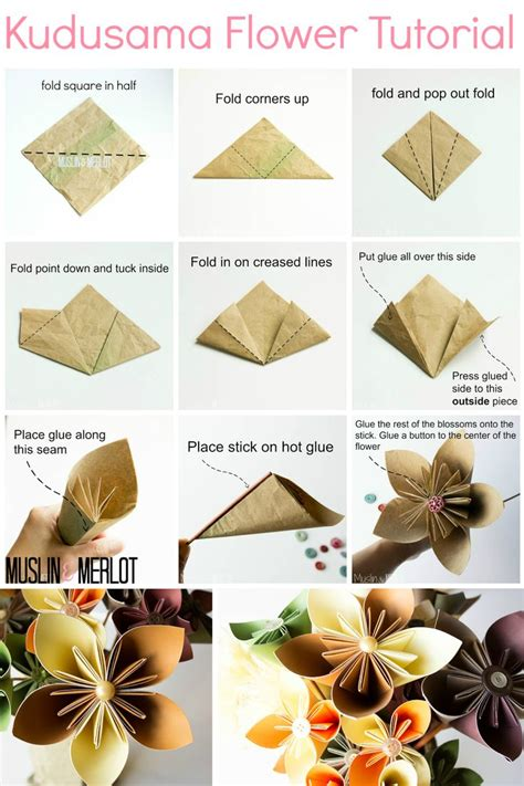 origami paper flower tutorial best 25 paper flower ideas on tissue