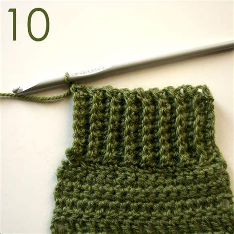 how to rib knit crochet single crochet ribbing