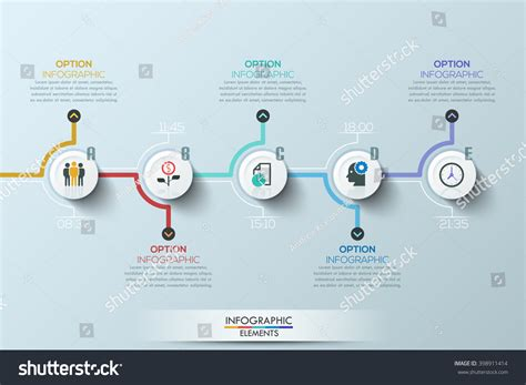 origami history timeline modern clean business circle origami style stock vector