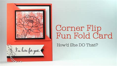 how to make flip card easy corner flip fold card by o