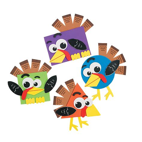thanksgiving craft kits for shape turkey craft kit coloring crafts crafts for