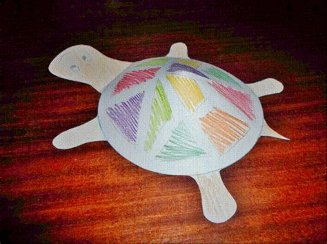 3d paper crafts for 3d paper turtle my kid craft