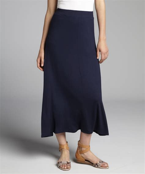 jersey knit maxi skirt loveappella s navy jersey knit maxi skirt hcloth