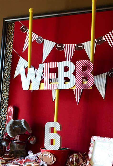 alabama decorations football ideas grown up
