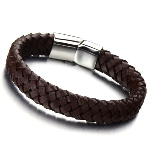 leather wristbands for minimalist brown braided leather bracelets for genuine leatehr bangle wirstband