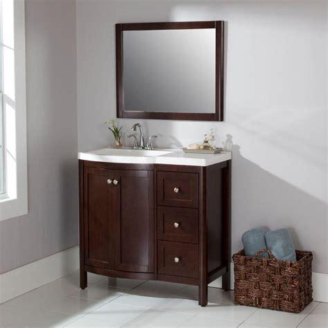 home depot bathroom vanities st paul madeline 36 in vanity in chestnut with alpine