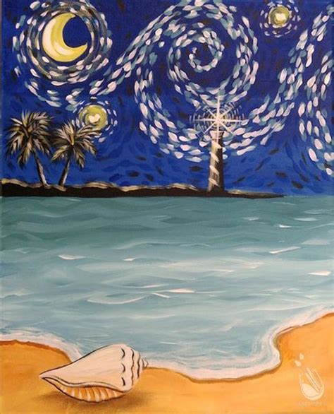 paint with a twist clermont starry for gogh s birthday thursday march 30