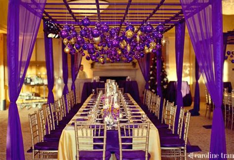purple gold decorations wedding ideas purple and gold wedding theme