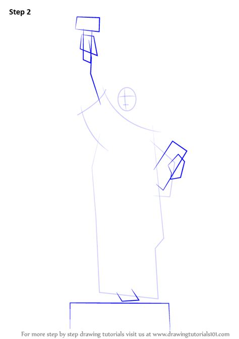 learn how to draw statue of liberty statues by