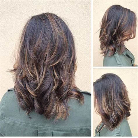 pictures of the back of shoulder lenth hair 25 trending medium length layered hairstyles ideas on