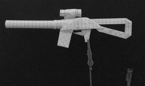 how to make a origami gun origami guns submachine gun by solidmark on deviantart