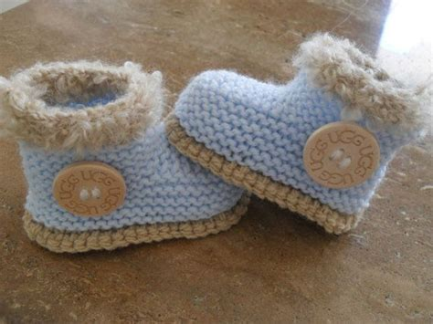 knitted baby booties size newborn to six months knitted baby boy boots booties ugg size 3 to 6 months