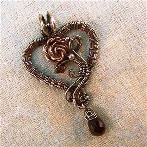 how to make wire jewelry pendants sterling silver and copper wire work lola pendant