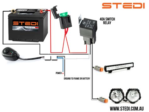 how to wire lights to a battery hella driving light relay wiring diagram get free image