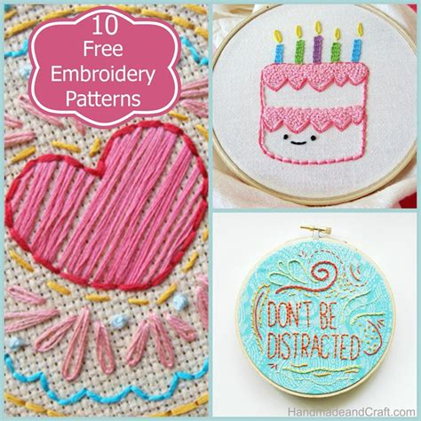 embroidery crafts projects 10 beautiful and free embroidery patterns