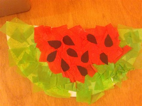 arts and crafts with tissue paper watermelon tissue paper m 226 ch 233 arts and crafts for school