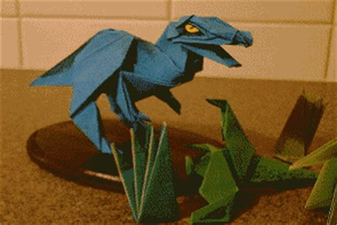 origami allosaurus the origami page