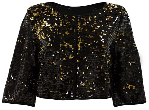 beaded evening jackets plus size plus size black gold cropped sequin evening jacket