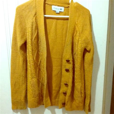 yellow knit cardigan mustard yellow sweaters
